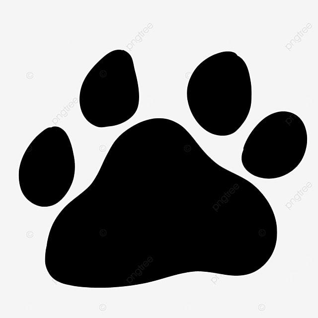 footprint shape animal walking paw clipart