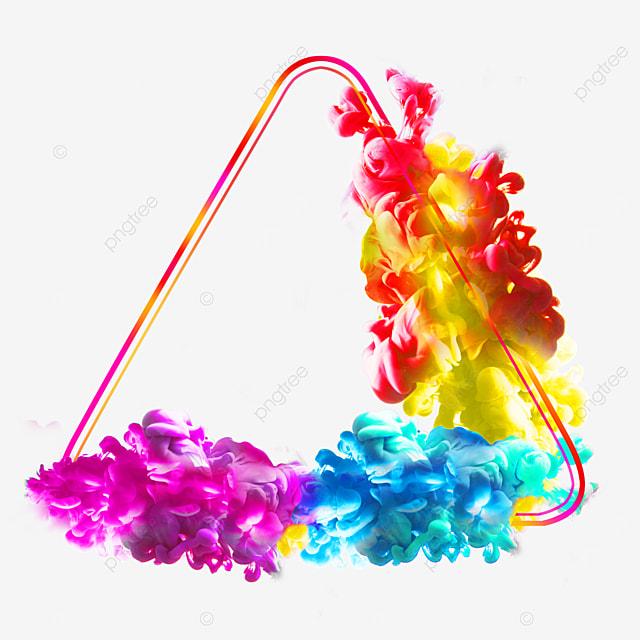 geometric colorful smoke