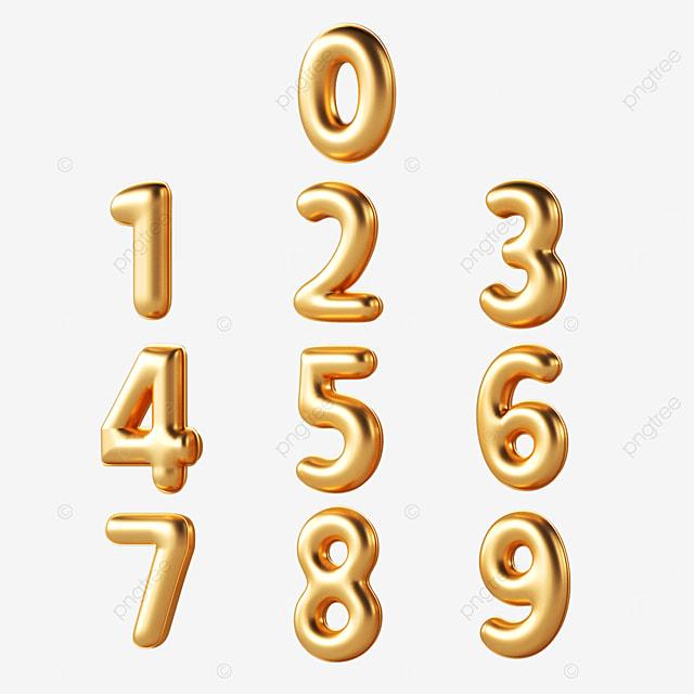 golden number font