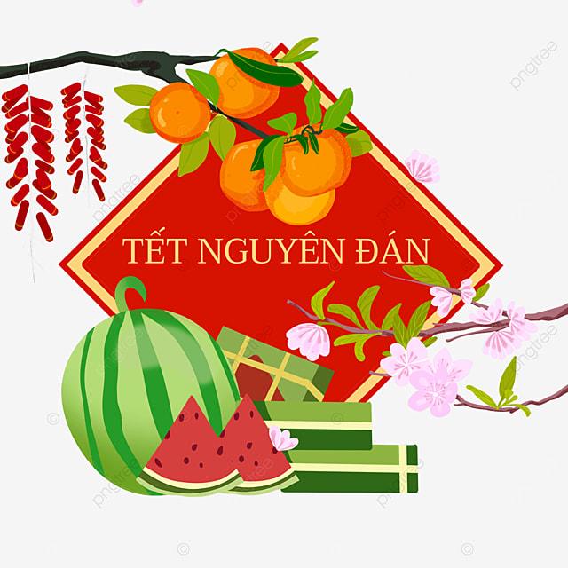 good luck vietnam spring festival watercolor border
