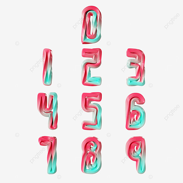 gradient twisted digital font