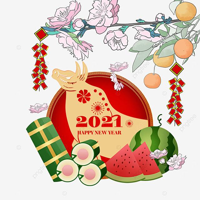 happy vietnamese new year watercolor border