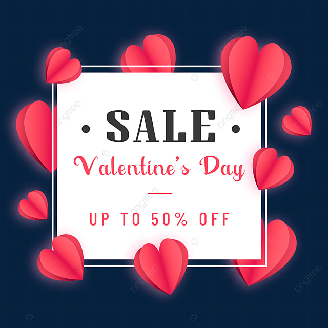 love valentines day promotion border red