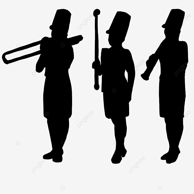 marching band standing clipart