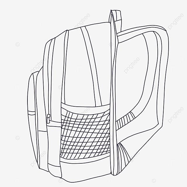mesh bag clipart black and white