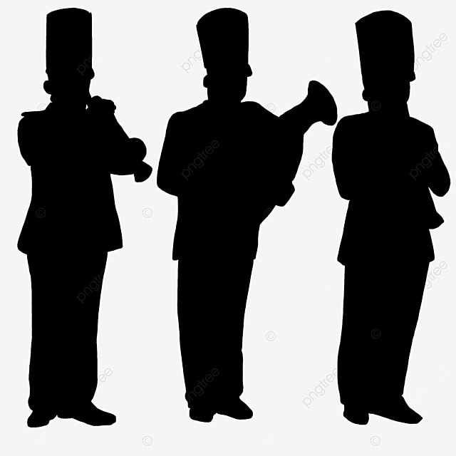 military band characters clip art