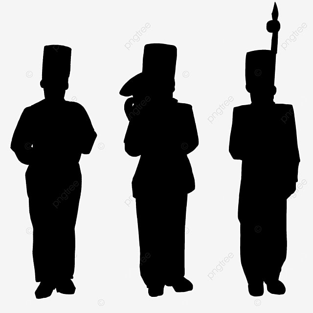 military band military band standing black and white clipart