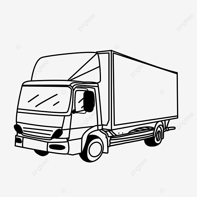 mode of transportation driving vehicle truck clipart black and white