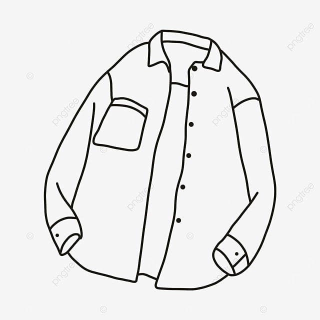 open wide open long sleeve shirt clipart black and white