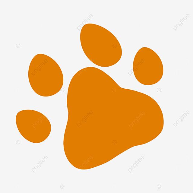 orange animal cartoon paw clipart