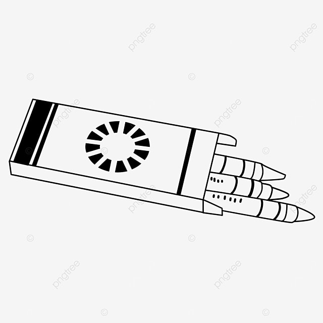 paint box painting tool crayons clipart black and white