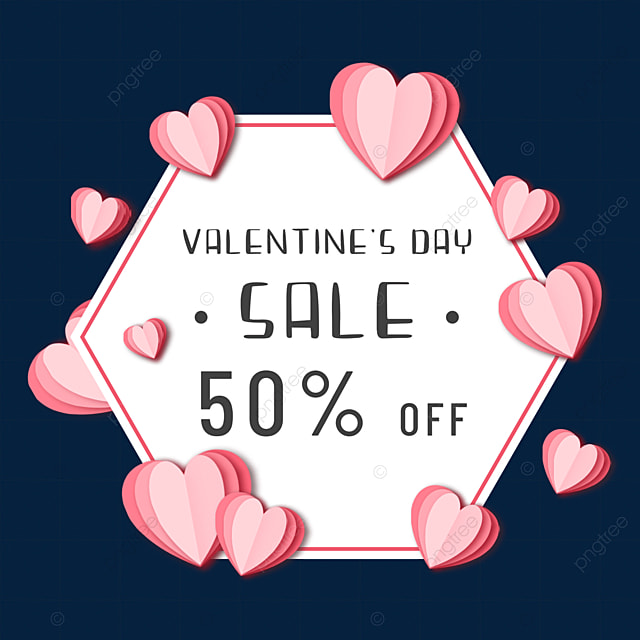 paper cut love valentines day promotion border pink