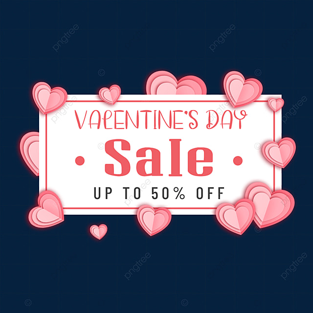 paper cut love valentines day promotion border
