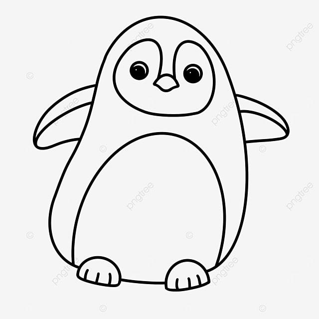 penguin clip art black and white