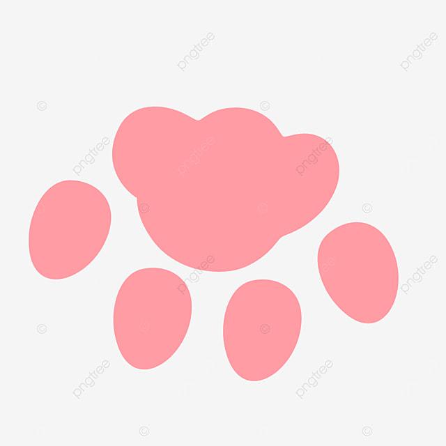 pink footprints animal walking paw clipart