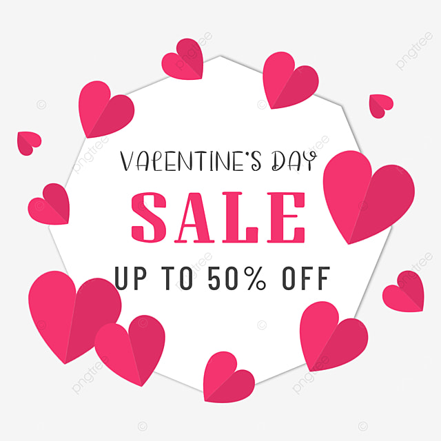 pink love valentines day promotion border