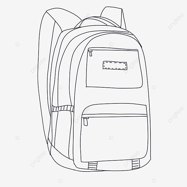 plain bag clipart black and white