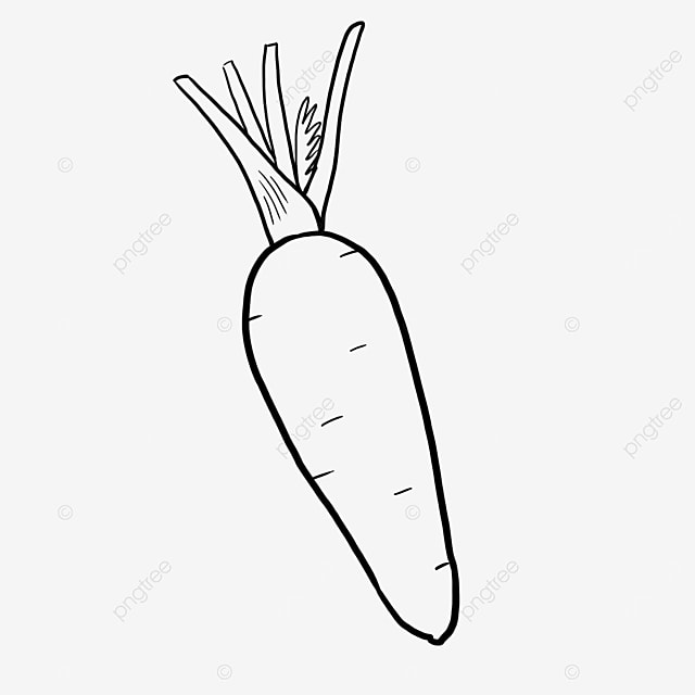 pollution free carrot black and white clipart
