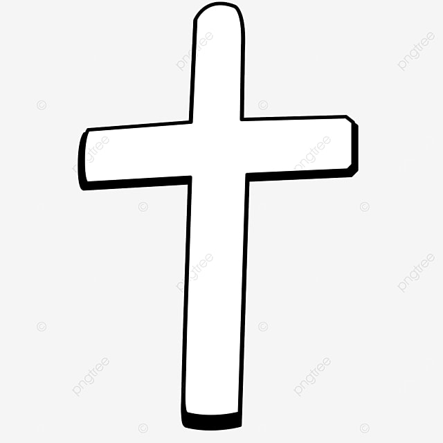 prayer blessing three dimensional black and white cross clipart