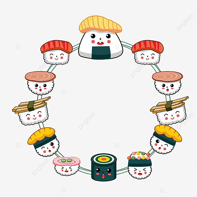 pretty sushi border
