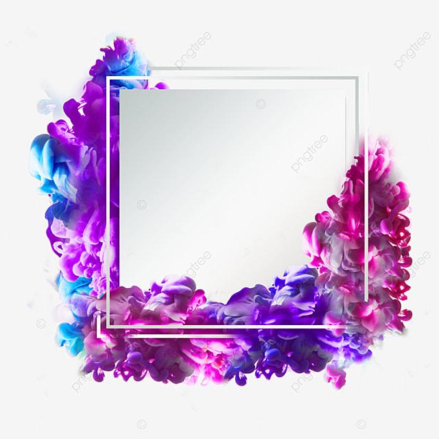 purple colored smoke