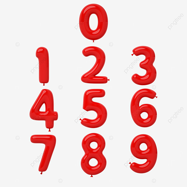 red balloon number font