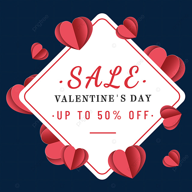 red paper cut love valentines day promotion border