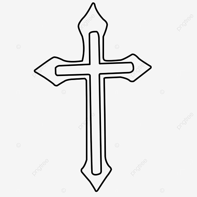 rhombus blessing cross clipart black and white