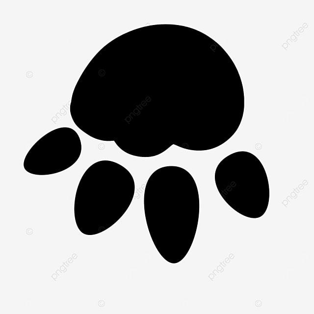 round animal cartoon paw clipart