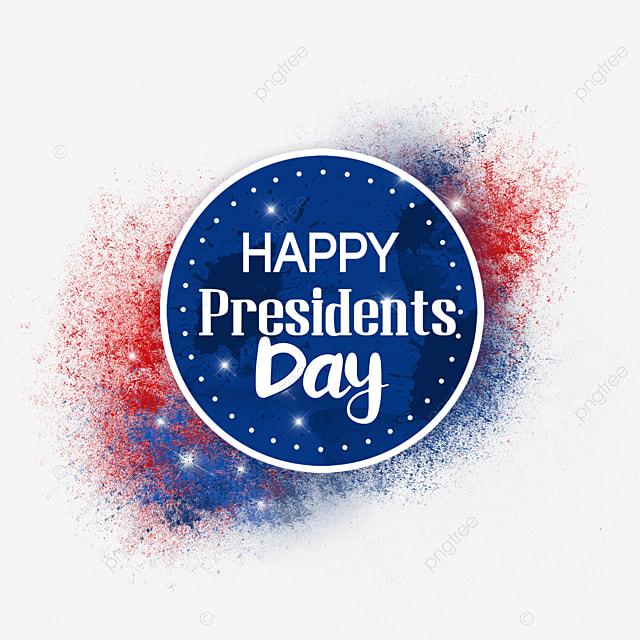 round u s presidents day standard emblem