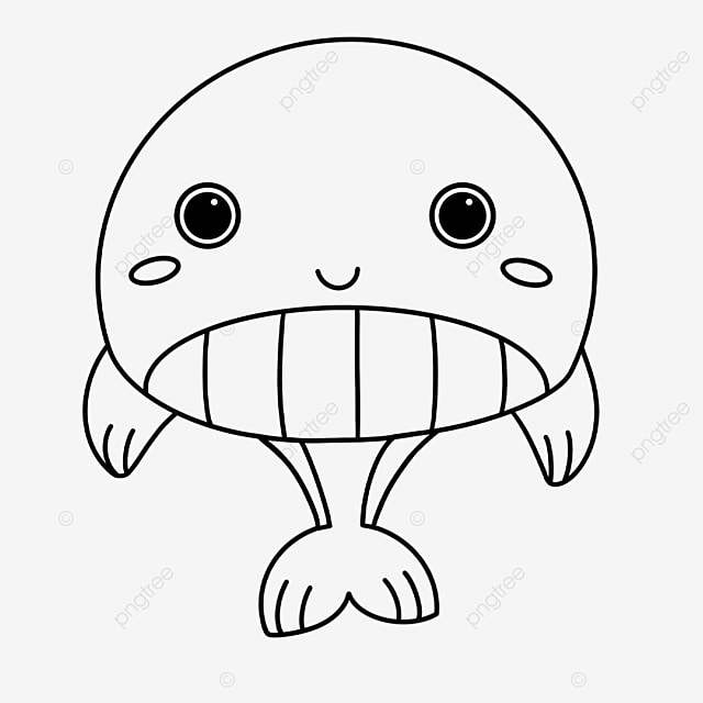 selling cute whale clipart black and white
