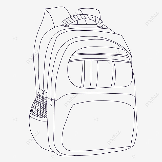 side bag clipart black and white