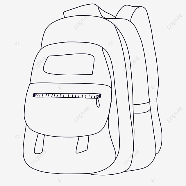 simple bag clipart black and white
