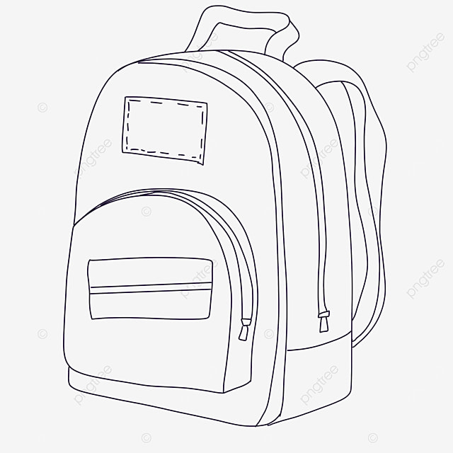 square bag clipart black and white