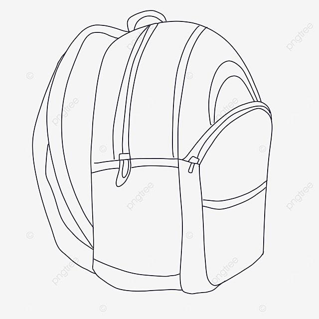 sturdy bag clipart black and white