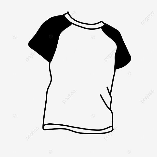 summer clothes shirt clipart black and white