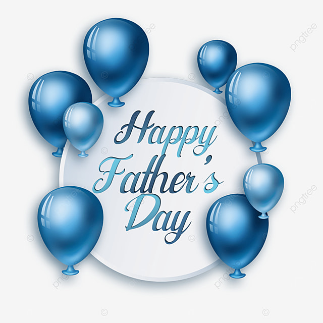 textured cartoon fathers day balloons