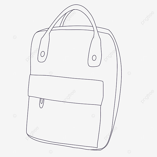tote bag clipart black and white