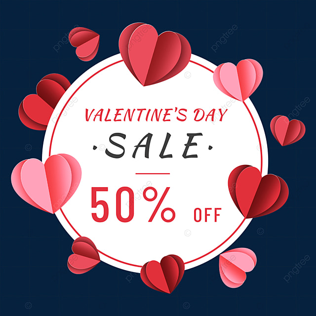 valentines day promotion border love heart paper cut