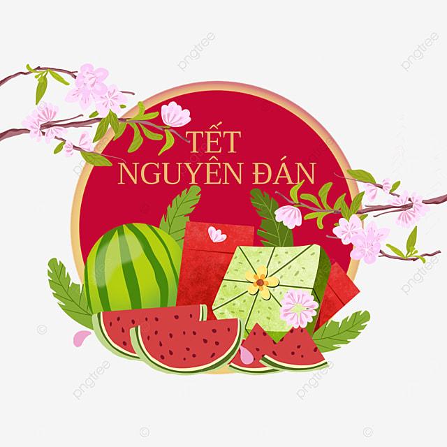 vietnam healthy spring festival watercolor border