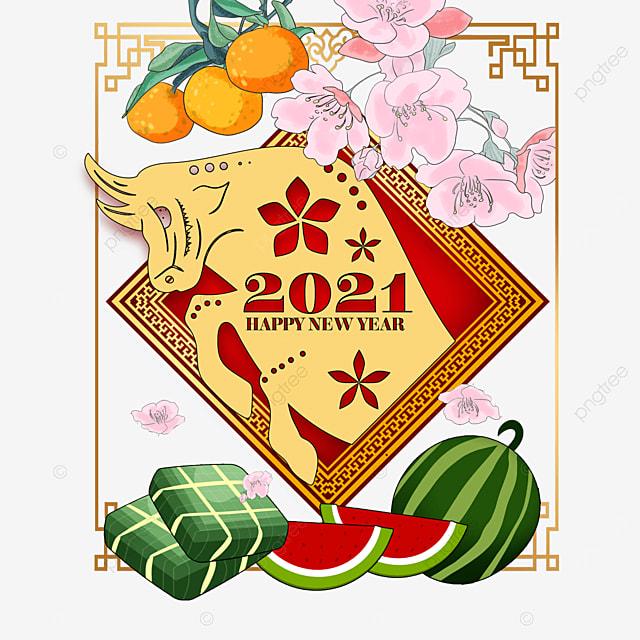 vietnam spring festival four seasons peace watercolor border