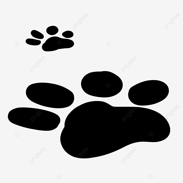 walking animal footprints paw clipart