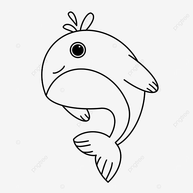 whale tail clipart black and white
