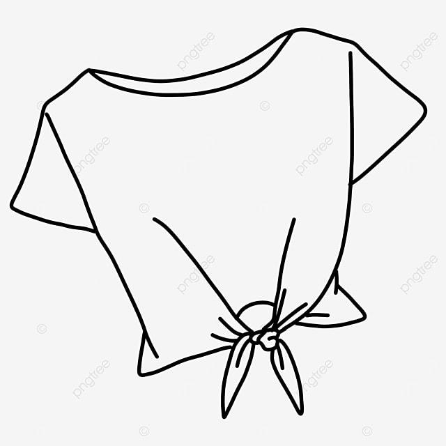 women fashion tie bow shirt clipart black and white