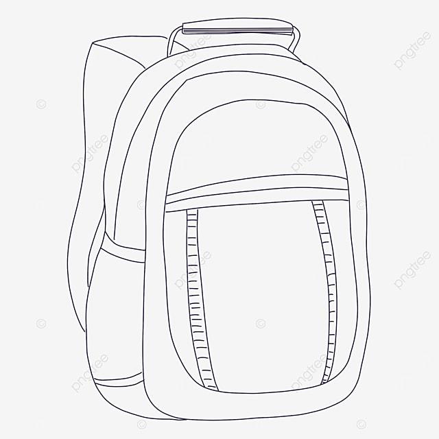 zipper bag clipart black and white