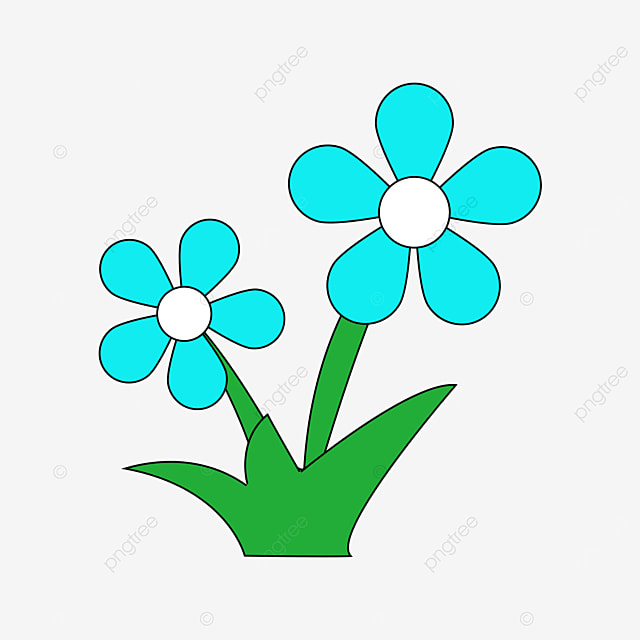 azure flower clip art
