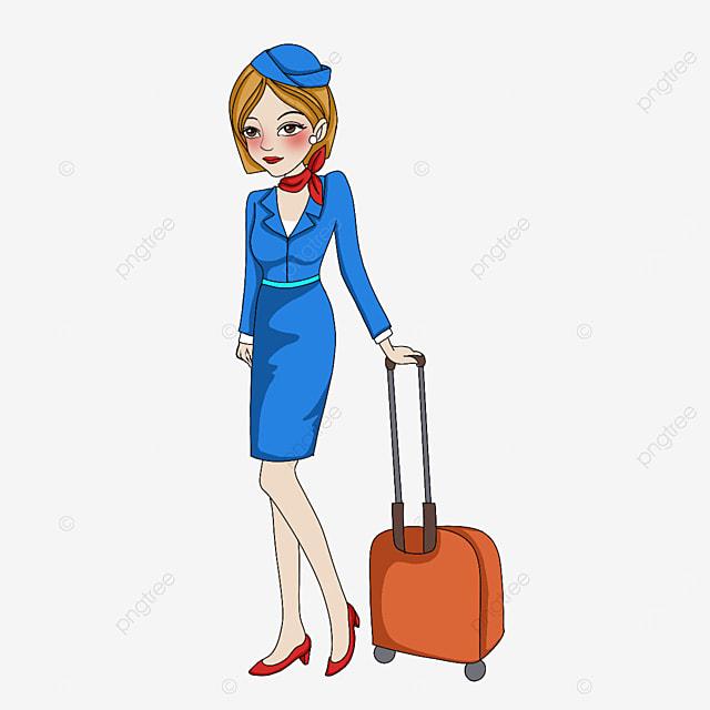beautiful air stewardess clipart