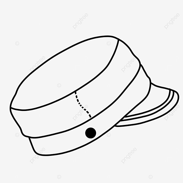 beret costume with hat clipart black and white