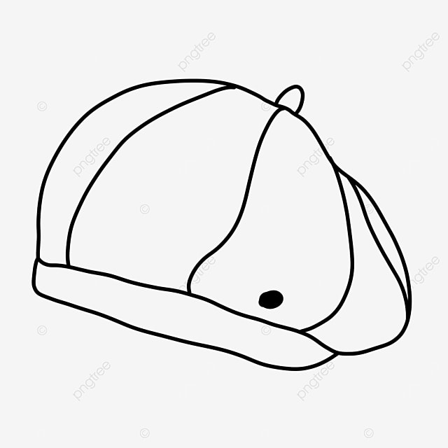 beret popular fashion clothing hat clipart black and white