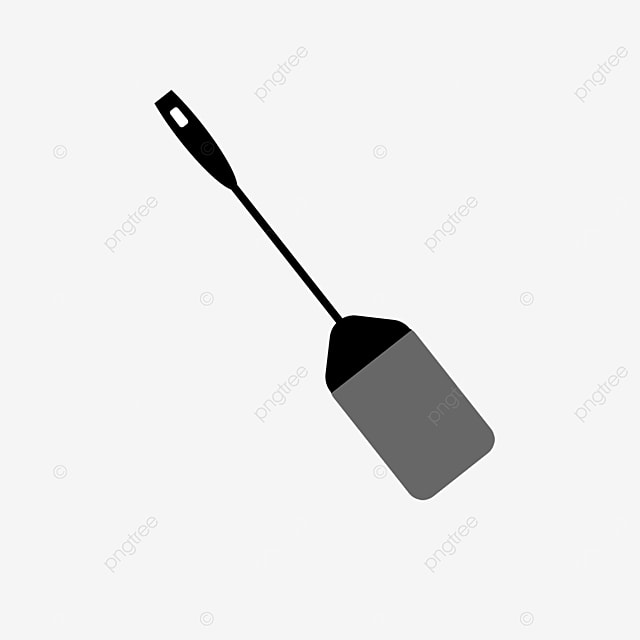black spatula cooking spatula clipart